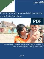 Descentralizarea Protectiei Sociale in Romania Ro
