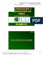 ICG - Curso Valorizacion y Liquidacion de Obras 2009