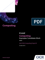 COMPUTING PROJECT EXEMPLAR - CANDIDATE WORK