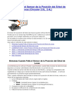 Cómo Probar El Sensor de La Posición Del Árbol de Levas (Chrysler 2.0L, 2.4L)