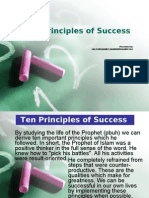 Ten Principles of Success