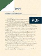 Declaratie de Dragoste - George Sovu