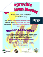 Vendor Info Downtown Market