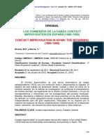 LOS COMIENZOS DE LA DANZA CONTACT IMPROVISATION EN ESPAÑA (1980-1990)