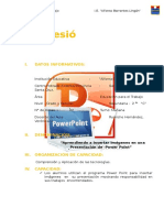 Modelo de Sesion  de aprendizaje insertar Power Point N° 5 .docx