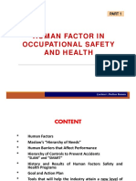 Human Factor in OSH-1