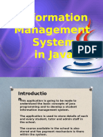 Information Management System in Java