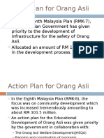 Action Plan for Orang Asli and Indigenious Group