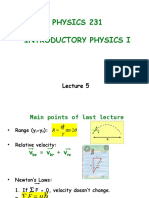 Lecture 5 Force and Motion