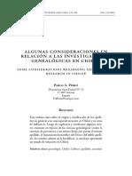 A9.-PEREZ. Pablo a. Pérez... Consideraciones... Investigaciones Genealógicas en Chiloé (28 Págs)
