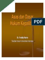Asas Dan Dasar Hukum Kepailitan