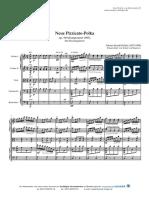 Neue Pizzicato Polka (Strauß) - Für Streichquintett
