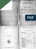 Bottiglioni - Manuale Dei Dialetti Italici