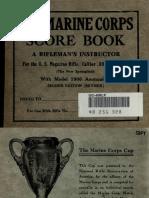 U.S. Marine Corps Score Book