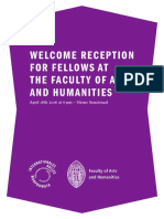 WELCOME RECEPTION FOR FELLOWS AT THE FACULTY OF ARTS AND HUMANITIES