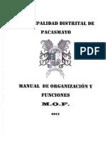 Mof - Manual de Organizaciones y Funciones