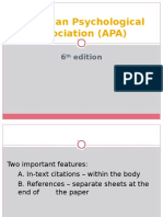 l5 Apa 6th Edition