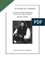 El Ordo Divino de Cranmer, Michael Davies
