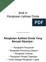 BAB III Rangkaian Aplikasi Dioda