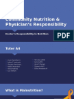 Community Nutrition & Physician's Responsibility