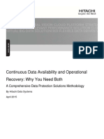 Continuous Data Availability and Operational Recovery White Paper