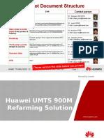Huawei UMTS 900M Refarming Solution V1[1].0(20090911)