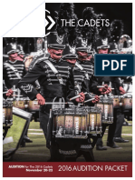 2016 Cadets Hornline Audition Packet