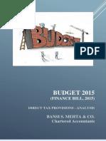 Finance Bill 2015 DirectTaxProvisions Analysis Banshi Mehta