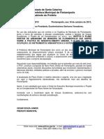 Anteprojeto de Lei PDP, Setembro 2013