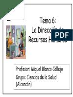 Tema 6 Dirección de Recursos Humanos