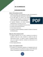 EJEMPLO Cuaderno de Ocurrencias - Prácticas Pre Profesionales XD