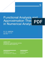 Varga - Functional Analysis and Approximations in Numerical Analysis