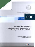 Informe nº 113 Contraloria Gral de la Republica, SDT Usach