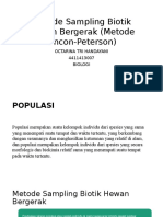 Metode Sampling Biotik Hewan Bergerak (Metode Lincon-Peterson