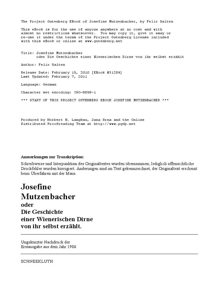 Mutzenbacher J