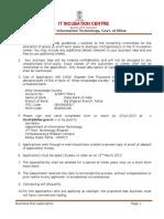 Application Form Startups Business Plan Format