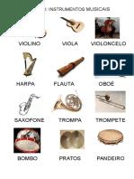 GLOSSÁRIO INSTRUMENTOS MUSICAIS
