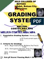 MELJUN CORTES Grading System