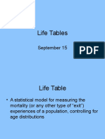 6.Life Tables