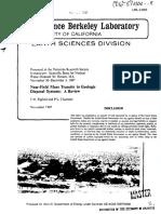 Near-Field Mass Transfer in Geologic Disposal Systems