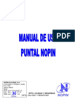 Escoras para lajes - Manual - Nopin