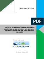 Manual Organizacion y Funciones Hospital Nacional Neumologia y Medicina Familiar Saldana