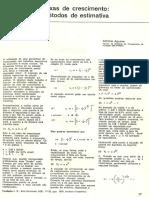 A Aguirre Taxas de Crescimento Métodos de Estimativa (FJP 1978)