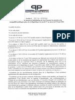 17 Mai 2016 Arrêté Portant Interdictions Place République j'Usqu'Au 18 Mai