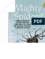 mighty spiders lesson plan