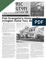 Historic Irvington Newsletter - 2016 Spring