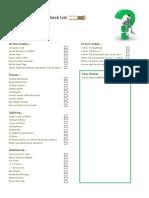 Re Wire Checklist