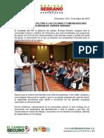 2016-05-16 Llevaremos La Cultura a Las Colonias y Comunidades Más Vulnerables Enrique Serrano