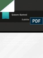 Presentasi Sistem Kontrol