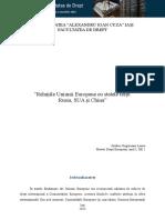 Relațiile Uniunii Europene Cu Statele Terțe